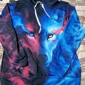 Wolf Hoodie, New in Package